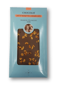 Tablette chocolats noisettes lait